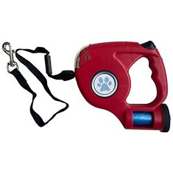 SUZZYVINE 3 in 1 Dog Retractable Leashes with Bright Flashlight and Poop Bags... $25.18