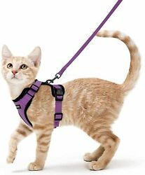 rabbitgoo Cat Harness and Leash for Walking Escape Proof Soft Adjustable Small $15.00