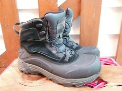 MERRELL Hiking BLACK Boots Mens Size 9 VERY NICE $39.99
