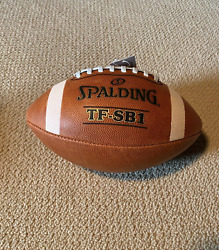 Spalding Leather Football TF SB1 Official Size amp; Weight New MPN 72 6038 $27.97