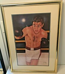 1983 HEAVYWEIGHT CHAMPION ROCKY MARCIANO Painting By Ferdie Pacheco. 30 X 21. $79.99
