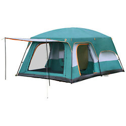 8 Person Large Outdoor Camping Tent w Screen Room Cabin Screen Porch Waterproof $107.99