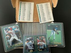 2001 Topps Chrome Traded Complete 266 Card Set With Pujols RC AND Ichiro RC $1299.99