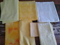 lot YELLOW 100% cotton quilting fabric vintage material northcott solid Benartex $46.98