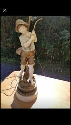 Vintage Boy Girl French Lamps $150.00