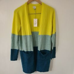 A NEW DAY TARGET WOMEN#x27;S COLORBLOCK CARDIGAN SWEATER OPEN FRONT SIZE XS $18.00