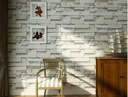 10M 3D Mural Modern Stone Brick Wall Paper Bedroom Background Textured $24.48
