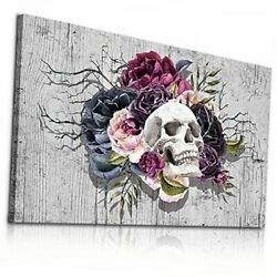 Canvas Wall Art For Bedroom Wall Decorations For 12x16inches Skull Head Picture $24.29