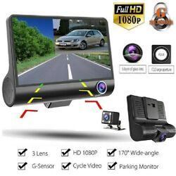 4inch Touch Screen Car Camera Dual Dash Cam HD Front Rear Inside Night Vision US $46.97