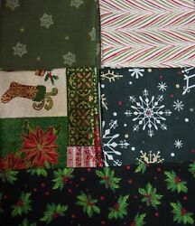 LOT 5 FAT QUARTERS CHRISTMAS Novelty Crafts Quilts Sewing Cotton FREE SHIP 1 $9.56