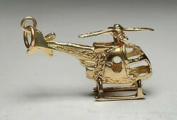 ESTATE VINTAGE 14K YELLOW GOLD LARGE HELICOPTER PENDANT 3 D WOW 585 A C $262.50