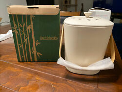 Bamboozle Food Compost Bin Indoor Composter for Kitchen Natural White NIB $32.00