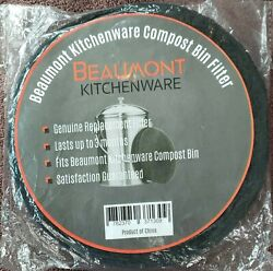 Beaumont Kitchenware Premium Compost Bin Filters 2X Thickness Charcoal Filte $13.99