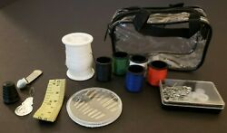 Clear Mini Beginner Sewing Kit Case Set Pocket Style Home Travel Camper Supply $10.00