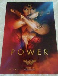 #x27;Wonder Woman#x27; Power 2017 featuring Gal Gadot Movie Poster 11.5quot; x 17quot; NEW $14.99