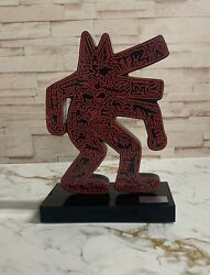 Keith Haring Dog Red COA Sculpture 32 Cm EUR 749.00