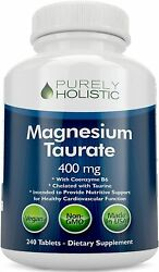 Magnesium Taurate 400mg Tablets Chelated Magnesium with Taurine amp; Coenzyme $18.45