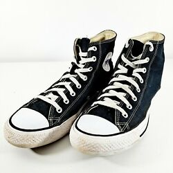 Converse All Star Mens Shoes Sz 11M Black High Top Casual Sneakers $29.95