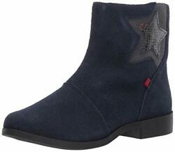 Marc Joseph New York Girl#x27;s Leather Made in Brazil Star Ankle Boot Navy Suede... $32.51