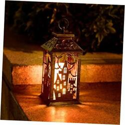 Halloween Lanterns with Candle Decorative Hanging Lights with Timer Castle $30.66