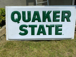 Large Outdoor QUAKER STATE Sign used polycarbonate 4#x27; x 8#x27;
