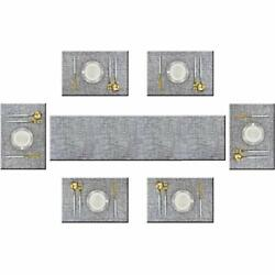 Bright Dream Table Runner and Placemats Set of 6 Kits Long Modern for Dinner ... $29.36