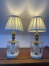 Beautiful Pair Of Antique Vintage Lamps For Desk Dressing Bedside Table Etc. GBP 150.00