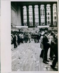 Vintage Crowded Lines Municipal Building With Littered Floor Vintage Photo 8X10 $19.99
