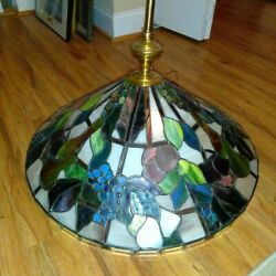 tiffany style stained glass hanging lamp $100.00