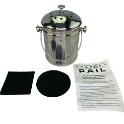 Endurance Stainless Steel Counter Compost Pail $24.00