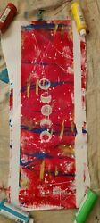 Wall art canvas paintings abstract moon phases $500.00