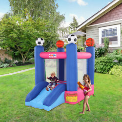 Safe Inflatable Jumping Castle Bounce House Child Jumper with Slide No Blower $190.99