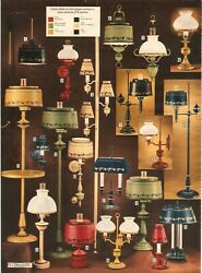 VINTAGE 1972 HOBNAIL LAMPS LIGHTING amp; FLOOR LAMPS CATALOG PAGES ADS CLIPPINGS $12.99