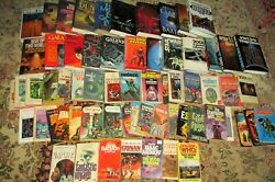 Vintage Science Fiction Book Lot 64 Lots of Rare Paperbacks and First editions $260.00