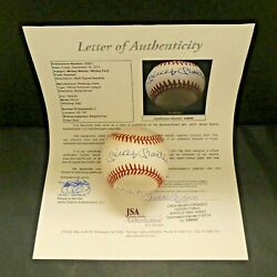 Mickey Mantle Whitey Ford Signed Official AL Baseball with Full JSA Letter $699.00