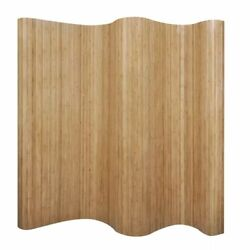 Modern Room Divider Bamboo Wood 98.4quot; x 65quot; Partition Privacy Screen Separator $123.99