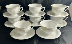 Set of 8 Rosenthal MARIA White Cups amp; Saucers Germany $79.99