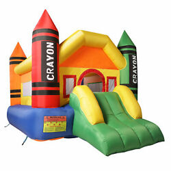 Inflatable Bounce House Jumper Castle Bouncer W Slide amp; Mesh Wall for Kids 3 10 $156.99