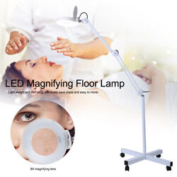 8X Magnifying LED Lamp w Stand Flexible Adjustable Height Floor Lamp Cold Light $68.32