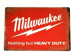 New Milwaukee Tools Tin Poster Sign Rustic Style Man Cave Garage Hardware Store $9.72