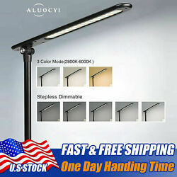Dimmable LED Desk Lamp Touch with USB Charging Port 5 Brightness Levels Black US $14.99