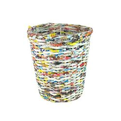 Single Tapered Recycled Paper Waist Bin Trash Can
