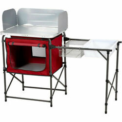 Deluxe Camp Kitchen for Fishing Camping Stove Kitchen with Storage amp; Sink Table $67.40