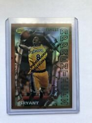 96 97 TOPPS FINEST #74 KOBE BRYANT ROOKIE REFRACTOR RC WITH PEEL P $18900.00