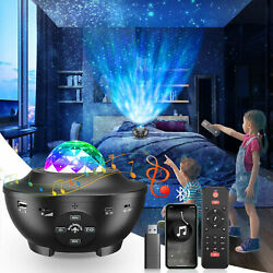 LED Galaxy Starry Night Light Projector Ocean Star Sky Party Speaker Lamp Remote $20.99