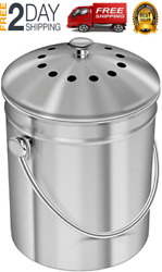 Stainless Steel Compost Bin 1.3 Gallon Indoor Compost Bucket for Kitchen Counter $39.39