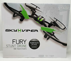 SKY VIPER FURY STUNT DRONE W SURFACE SCAN Black Green NEW in box FREE Shipping $49.99