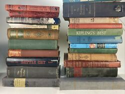 Lot of 10 Vintage Old Rare Antique Hardcover Books Mixed Color Random $24.98