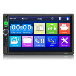 7quot; Double 2 DIN Car Radio Stereo Bluetooth FM USB SD AUX IOS Android MP5 Player $65.95