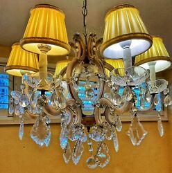 Spectacular Vintage Chandelier Maria Theresa Style 6 Lights $500.00